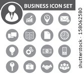 business icon set. vector... | Shutterstock .eps vector #158062580