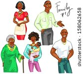 multi generation family members ... | Shutterstock .eps vector #158062658