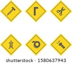 6 construction icons for... | Shutterstock .eps vector #1580637943
