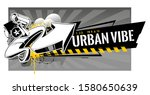 horizontal banner with abstract ... | Shutterstock .eps vector #1580650639