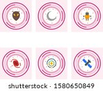6 astronomy icons for personal... | Shutterstock .eps vector #1580650849