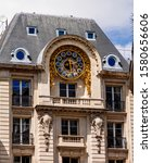 Small photo of Big watch on Financial Office of the Paris Court of First Instance. France.