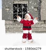 Snowing On Little Child In...