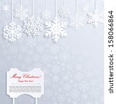 christmas background with white ... | Shutterstock .eps vector #158066864