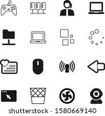 computer vector icon set such...