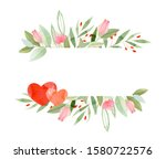 Hand Painted Watercolor Floral...