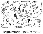 vector hand drawn collection of ... | Shutterstock .eps vector #1580754913