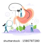 diagnosis of the stomach using...   Shutterstock .eps vector #1580787280