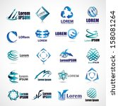 business icons set   isolated... | Shutterstock .eps vector #158081264