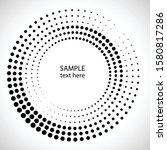 halftone dots in circle form.... | Shutterstock .eps vector #1580817286