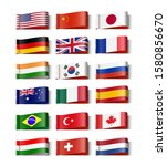 national flags of the world set.... | Shutterstock .eps vector #1580856670