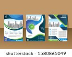 abstract cover and layout for...   Shutterstock .eps vector #1580865049