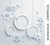 christmas background with... | Shutterstock .eps vector #158090126