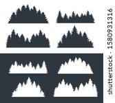 set of forest silhouettes of... | Shutterstock .eps vector #1580931316