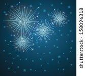 glowing starry fireworks on... | Shutterstock .eps vector #158096318