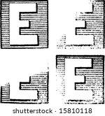 e part of a complete alphabet...   Shutterstock .eps vector #15810118