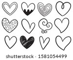 collection set of hand drawn... | Shutterstock .eps vector #1581054499