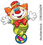 funny clown on a white... | Shutterstock .eps vector #158105609