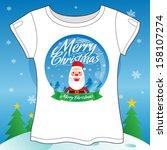 christmas t shirt vector... | Shutterstock .eps vector #158107274