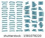 set of 65 ribbons. star mark.... | Shutterstock .eps vector #1581078220