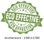 eco effective green grunge stamp   Shutterstock . vector #158111780