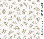 hats vector seamless background ... | Shutterstock .eps vector #1581123613