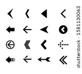 arrow icon set on white... | Shutterstock . vector #1581130063