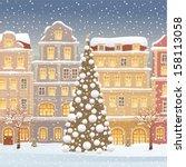 christmas tree | Shutterstock .eps vector #158113058