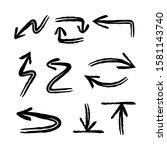 arrow doodles collection. hand... | Shutterstock .eps vector #1581143740