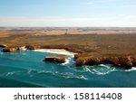 Aerial View On Great Ocean Roa...