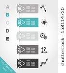 turguoise triangular... | Shutterstock .eps vector #158114720