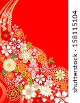 japanese traditional floral... | Shutterstock .eps vector #158115104