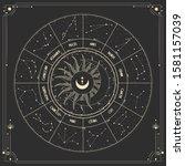 vector illustration set of moon ...   Shutterstock .eps vector #1581157039