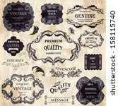vector set calligraphic design... | Shutterstock .eps vector #158115740