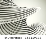 Metal Chrome Lines Background