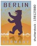 Berlin Vintage Poster In Orange ...