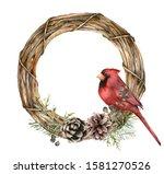 Watercolor Christmas Wreath...