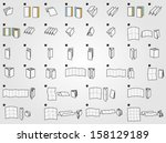 folding icons for print | Shutterstock .eps vector #158129189