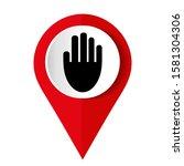stop hand logo vector... | Shutterstock .eps vector #1581304306