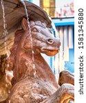 Horse Statue Detail Closeup As...