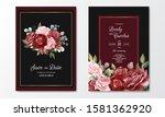 beautiful floral wreath wedding ... | Shutterstock .eps vector #1581362920