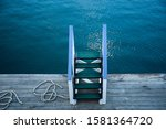Wooden Stairs On The Deck Of A...