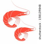 abstract,delicacy,food,isolated,meat,ocean,red,sea life,seafood,shrimp,sign,unusual,vector