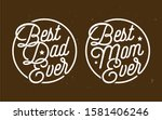 best dad   best mom ever...   Shutterstock .eps vector #1581406246
