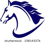 Stock vector horse emblem logo design 158143376