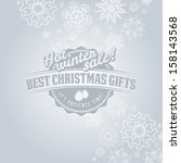 christmas card with... | Shutterstock . vector #158143568