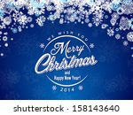 christmas card with... | Shutterstock . vector #158143640