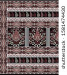 textile traditional paisley... | Shutterstock . vector #1581474430