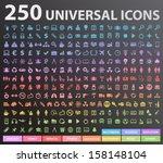 250 universal icons.