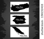 grunge business card. vector... | Shutterstock .eps vector #158152433